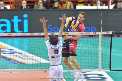 Alexander BERGER, BERGER.Alexander, BlockDevils, Campionato Italiano, Italian Championship, Maschile, Men's, Pallavolo, Perugia, Serie A1M, Sir Safety, Sir Safety Conad Perugia, Stagione 2017-18, SuperLega, Volley, Volleyball