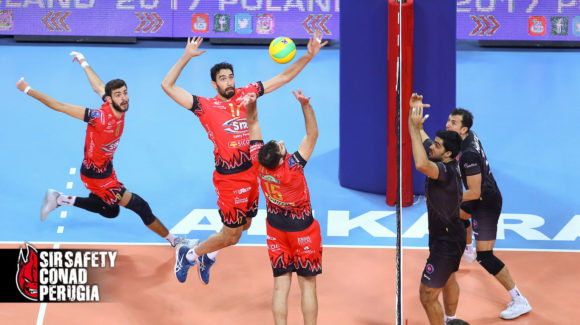 PERUGIA IS WILD! GREAT VICTORY IN ANKARA IN THREE SETS, IN THE DEBUT OF CHAMPIONS LEAGUE POOL E!